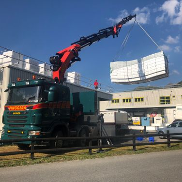 Pinggera Transport Engadin Krantransport Kranzug Kran