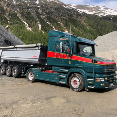 Pinggera Transport Engadin Kipper Scania T
