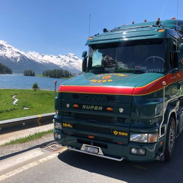 Pinggera Transport Engadin Scania T Kipper
